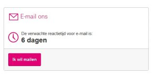 Lange wachttijd email bij T-Mobile